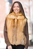Ember Red Fox Fur Vest