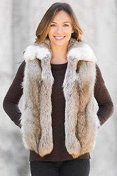 Sydney Coyote Fur Vest