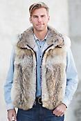 Bruce Coyote Fur Vest