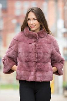 Hermione Finn Mink Fur Bolero Jacket