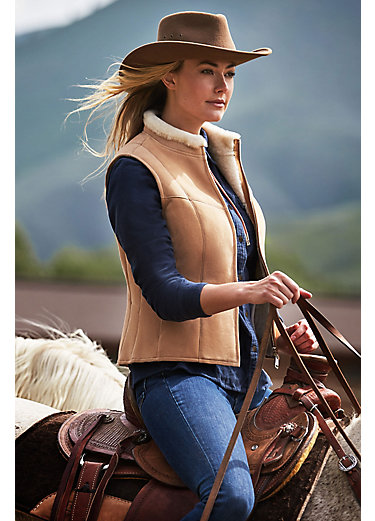 Pauline Shearling Sheepskin Vest
