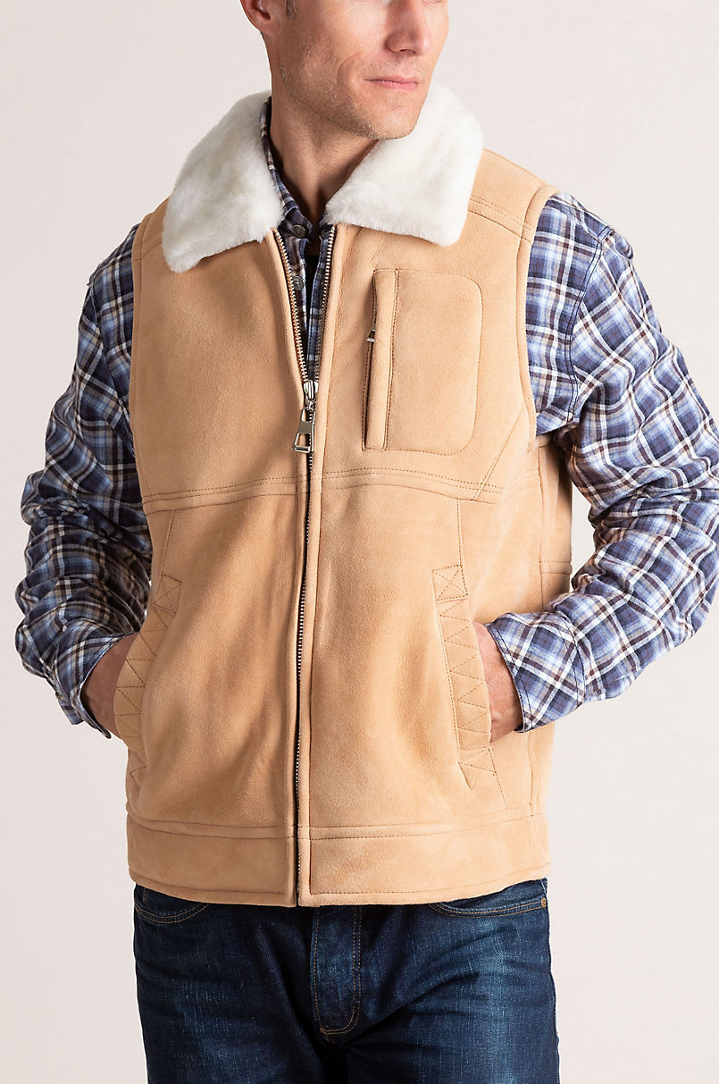 Montana Camel Shearling Sheepskin Vest