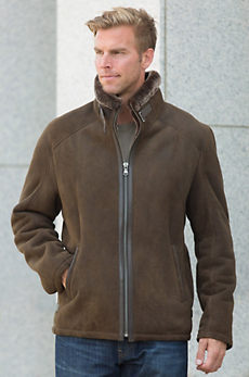 Matthew Sheepskin Bomber Jacket