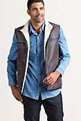 Beckett Tiger Print Reversible Sheepskin Vest