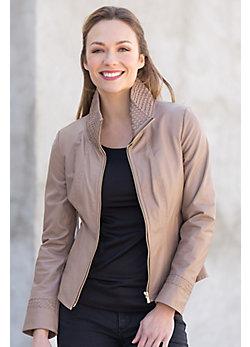 Jenna Lambskin Leather Jacket