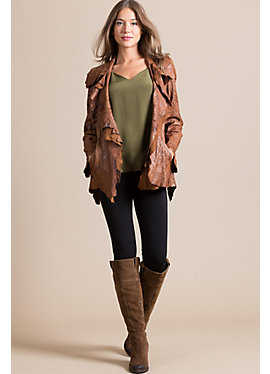 Calypso Lambskin Leather Jacket