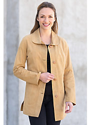 Tamarind Reversible Goatskin Suede Leather Jacket