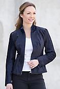 Leona Calfskin Fur Leather Moto Jacket