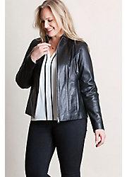 Greenwich Lambskin Leather Jacket – Plus (1X, 2X)