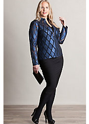 Dover Patterned Lambskin Leather Jacket - Plus (1X, 2X)