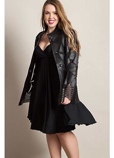 Fiona Lambskin Leather Jacket - Plus (18-24)