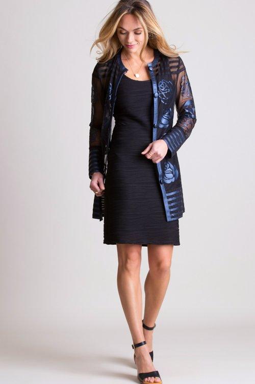 Marisa Italian Lambskin Leather Mesh Jacket - Plus (18-24)