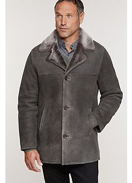 Leonard Spanish Merino Shearling Sheepskin Car Coat