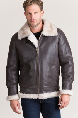 d4d955822 Overland Classic Shearling Sheepskin B-3 Bomber Jacket with ...