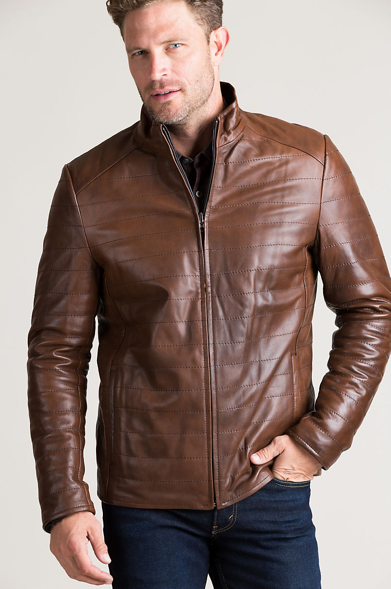 Raymond Reversible Quilted Lambskin Leather Puffer Jacket