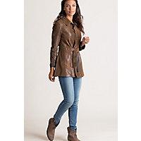 Vintage Coats & Jackets | Retro Coats and Jackets Vera Reversible Lambskin Suede Leather Jacket $595.00 AT vintagedancer.com