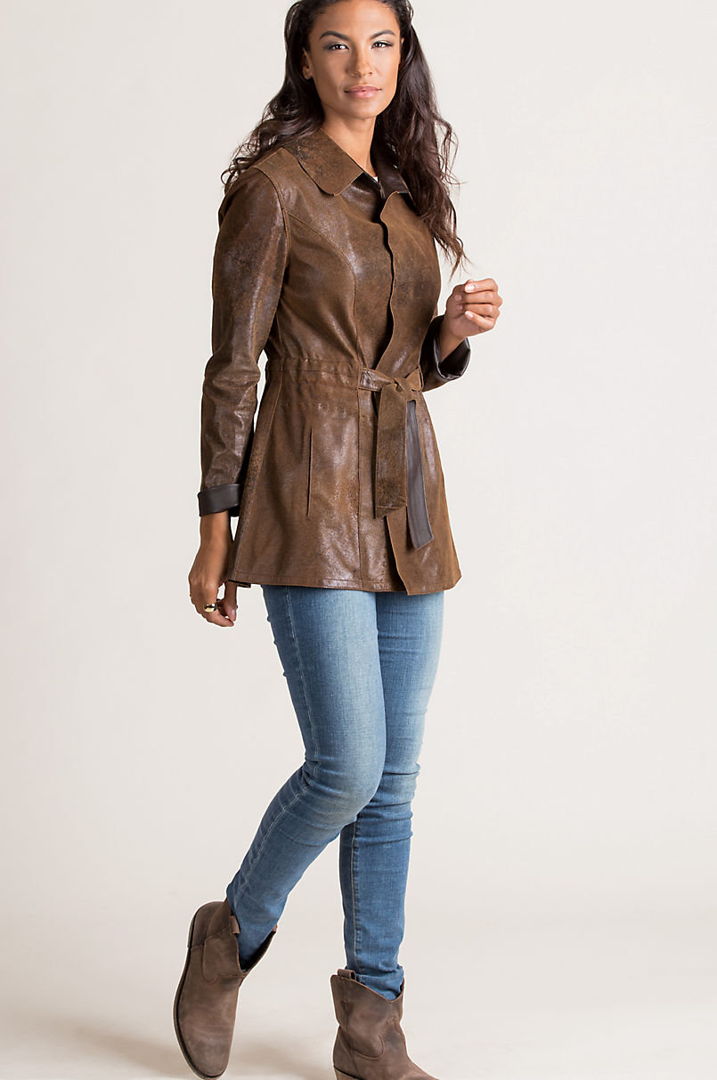Vera Reversible Lambskin Suede Leather Jacket