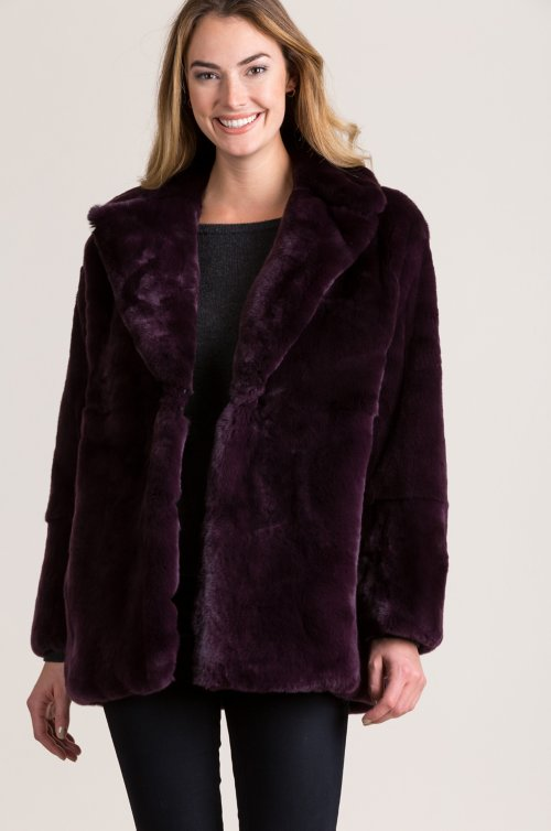 Dolores Rex Rabbit Fur Jacket