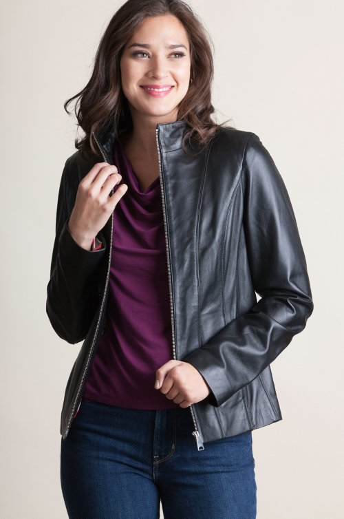 9d7a90400db Greenwich Lambskin Leather Jacket