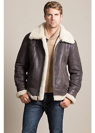 Overland Classic Sheepskin B-3 Bomber Jacket - Big (54-56)