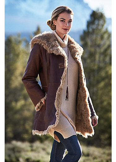 Chloe Spanish Curly Tigrado Sheepskin Coat