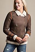 Hazel Curly Shearling Sheepskin Bomber Jacket