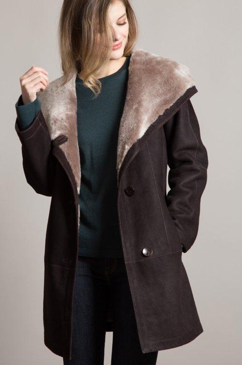 Millie Hooded Merino Shearling Sheepskin Jacket