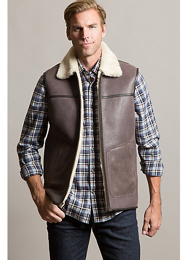 Houston Australian Shearling Sheepskin Vest