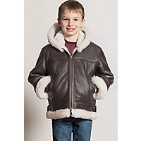 Vintage Style Children's Clothing: Girls, Boys, Baby, Toddler Childrens Unisex Sheepskin B-3 Bomber Jacket $249.00 AT vintagedancer.com