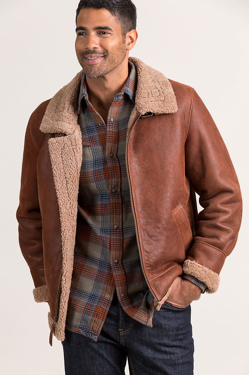 Overland Special Edition Sheepskin B-3 Bomber Jacket
