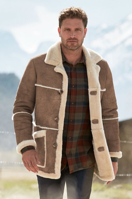 Maverick Rancher Shearling Sheepskin Coat