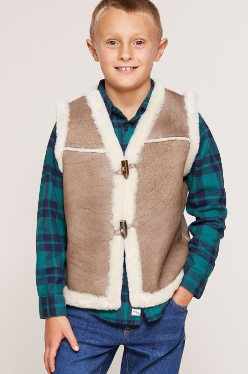 Children's Shearling Sheepskin Rancher Vest