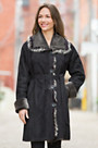 Sue Shearling Sheepskin Coat with Toscana Trim