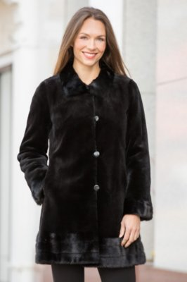 Ava Reversible Danish Mink Fur Coat