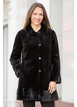 Ava Reversible Danish Mink Fur Coat