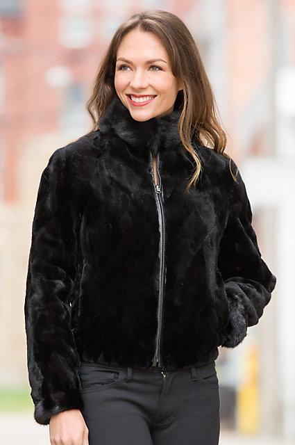 Colesha Reversible Mink Fur and Leather Jacket   Overland