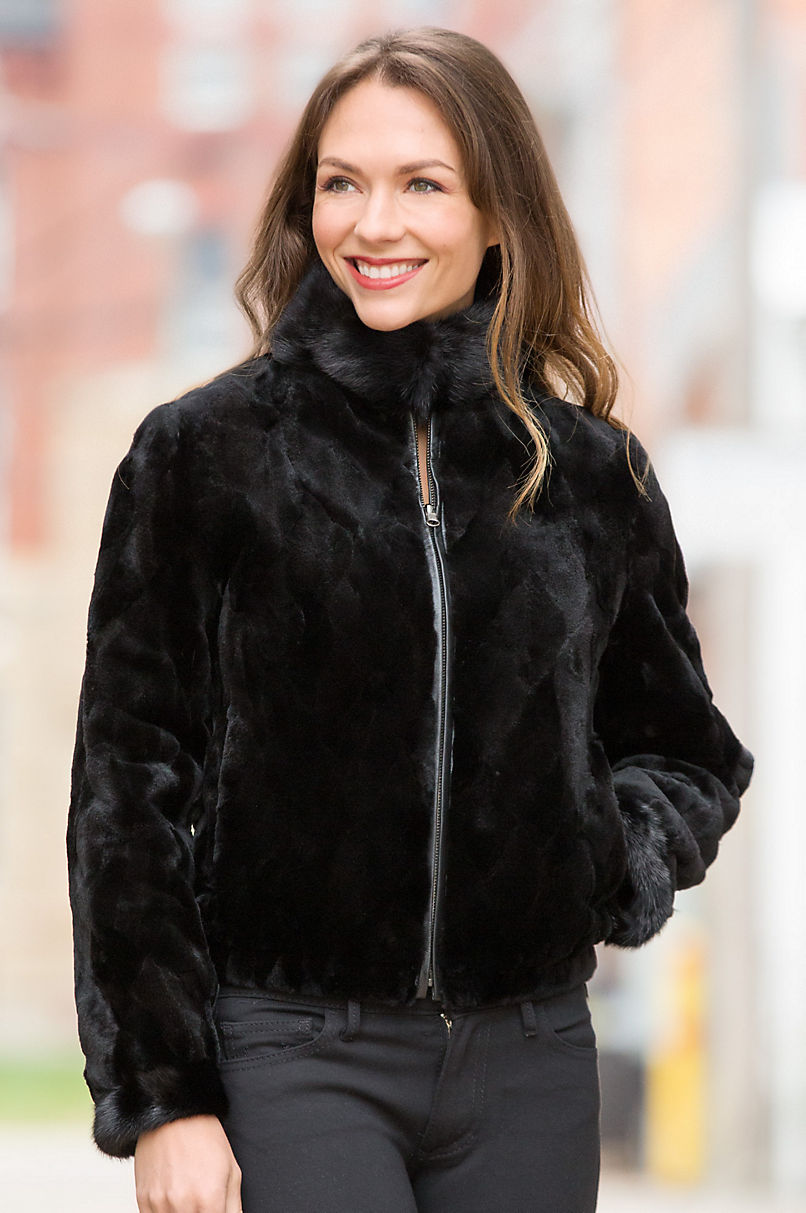 Fur Mink & Leather Jacket Get Authentic Online Clearance Best Discount Looking For pyaabV2kTU