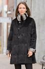 Liza Reversible Mink Fur Coat with Rabbit Fur Trim