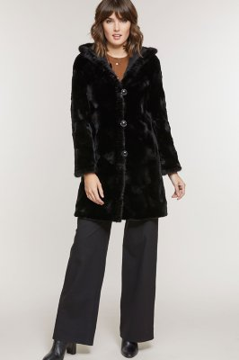 Betsy Reversible Hooded Mink Fur Coat