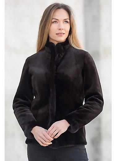 Roberta Reversible Danish Mink Fur Jacket