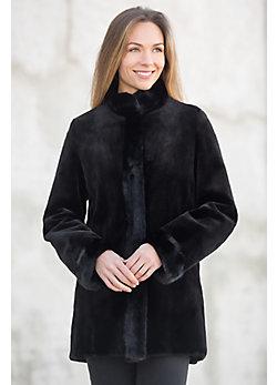 Cara Reversible Danish Mink Fur Coat