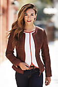 Vanessa Italian Lambskin Leather Jacket
