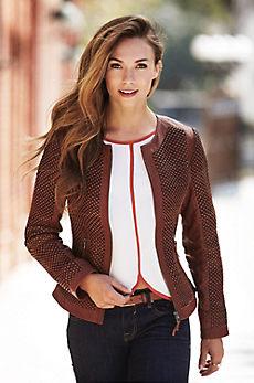 Vanessa Italian Lambskin Leather Jacket