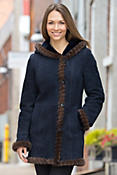 Dara Shearling Sheepskin Coat with Mink Fur Trim