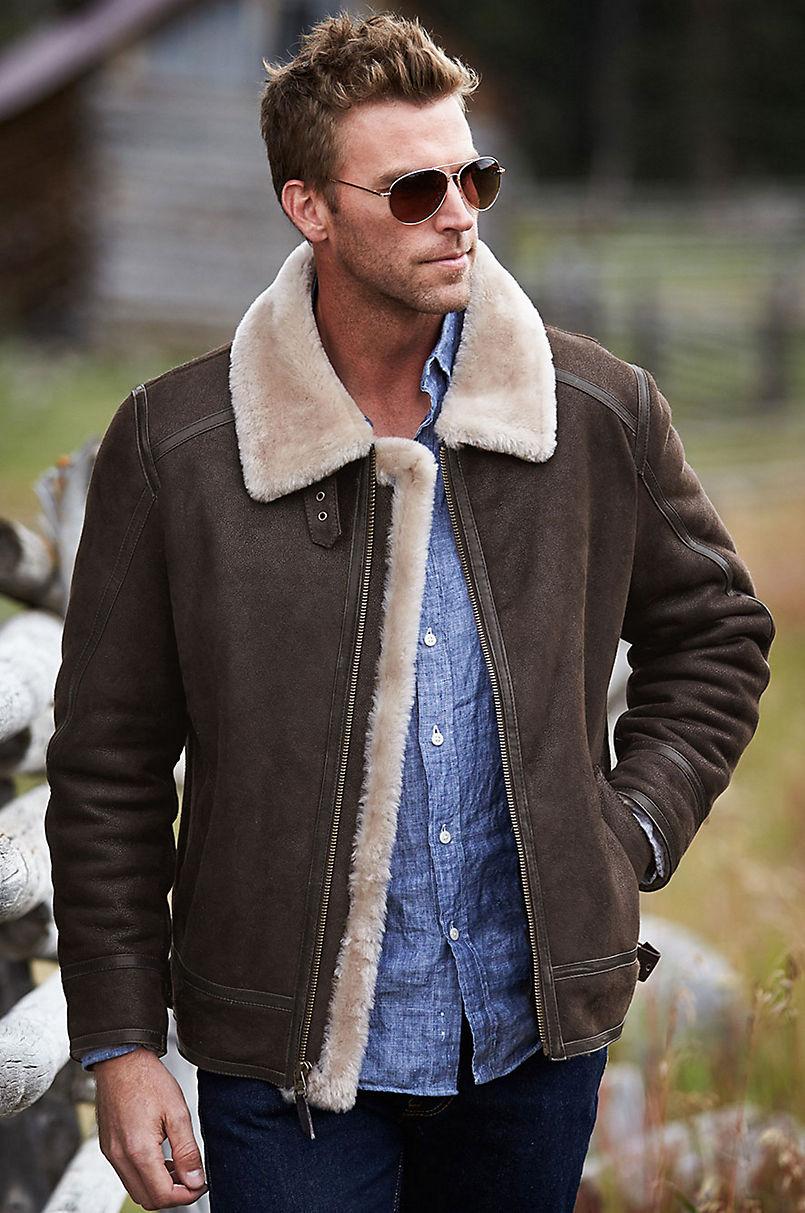 Brody Sheepskin Bomber Jacket   Overland