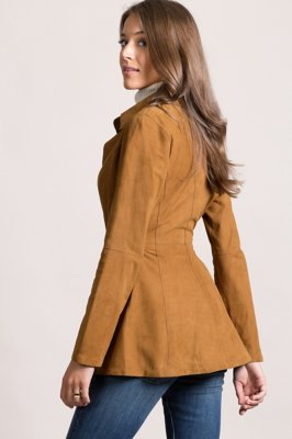 Vera Reversible Goatskin Suede Leather Jacket