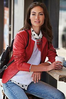 Tanya Italian Goatskin Leather Jacket