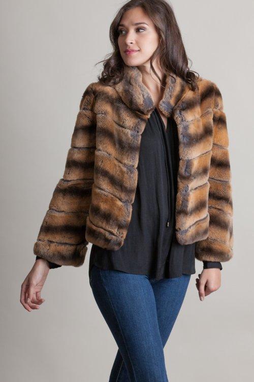 Deirdre Spanish Rex Rabbit Fur Bolero Jacket
