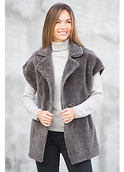 Zara Mouton Shearling Sheepskin Vest