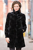 Bridget Reversible Danish Mink Fur Coat with Fox Fur Trim